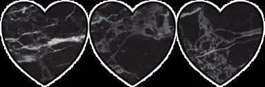 black white marmer heart bynisha