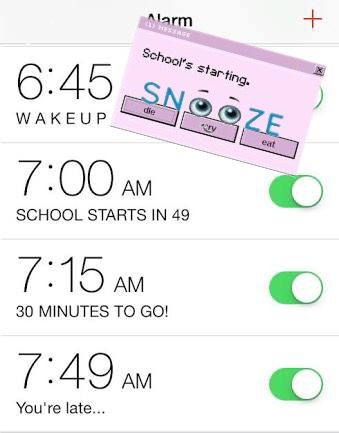 Schools starting... Snooze until im late-- thats what I used to do when I was in school! 😂 #snooze #schoolsstartingstickerremix #remixed #myremix #editit #remixit #freetoedit