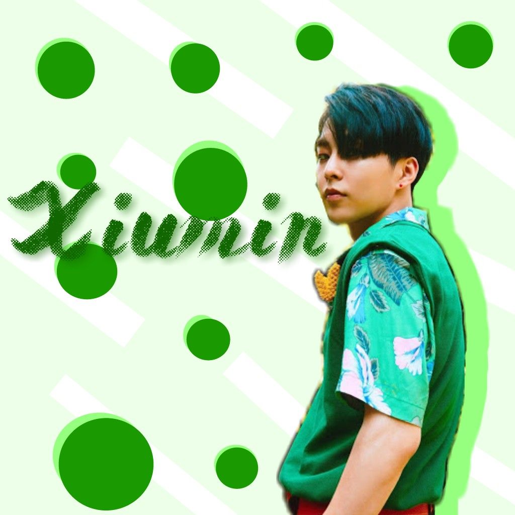Exo Xiumin Kim Minseok Green Wallpaper Circles