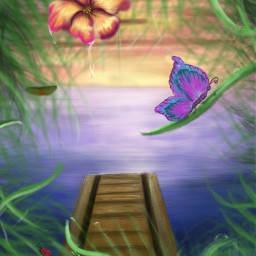 drawing colorful flower nature travel freetoedit