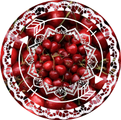 icon cherry sticker happy red