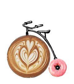 freetoedit vintage retro donut coffeemug