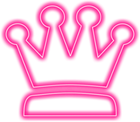 neonlights pink crown girly princess