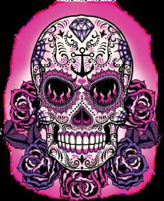sugarskull skull freetoedit