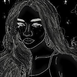 tumblr aesthetic experimental white black