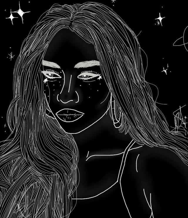 #tumblr #aesthetic #experimental #white #black #blackandwhite #galaxy #stardust #outline #drawing #drawingoutline #tumblroutline