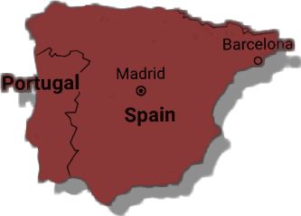 spain barcelona country map freetoedit