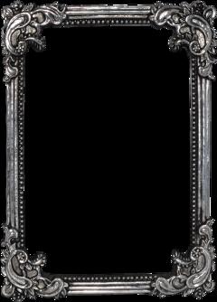 frame vintage silver bored freetoedit