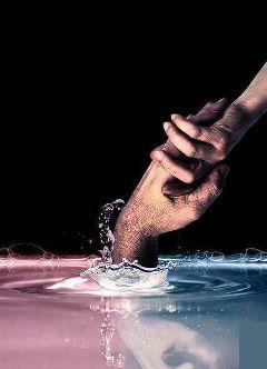romantic help water hands