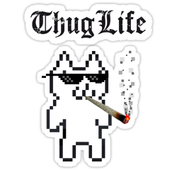 ftestickers thuglife catstickers freetoedit