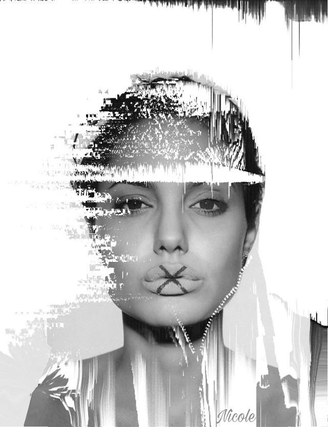 #doubleexposure #angelinajolie #abstract art#nospeaking