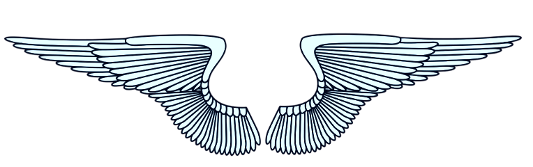 ftestickers wing wings blue white