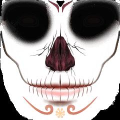 dayofthedead head skull freetoedit