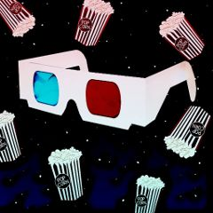 movie 3dglasses popcorn popart freetoedit