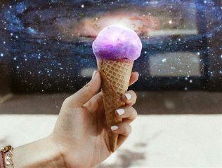 galaxy stars starry icecream galaxyicecream freetoedit