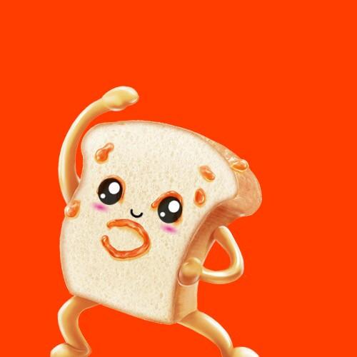 #kawaiieyesstickerremix #bread #animated #cute