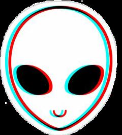 alien glitch white colors ftealiens freetoedit