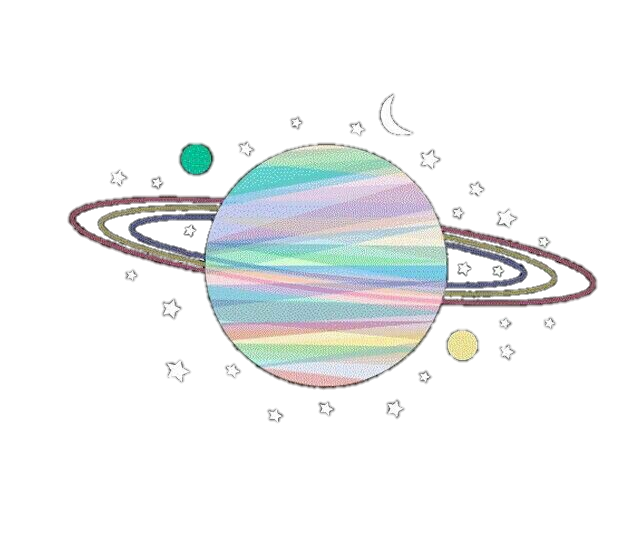 stars universe tumblr planet colorful aesthetic moon plant clip art free planet clipart for kids