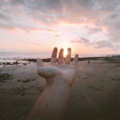 hand sun sunset beach isr4el dpceveningstroll freetoedit