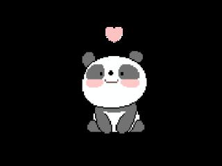 panda cute tumblr pixel petsandanimals