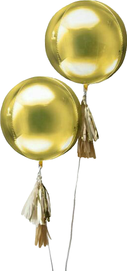 #balloons #tassels #gold #celebrate #sticker