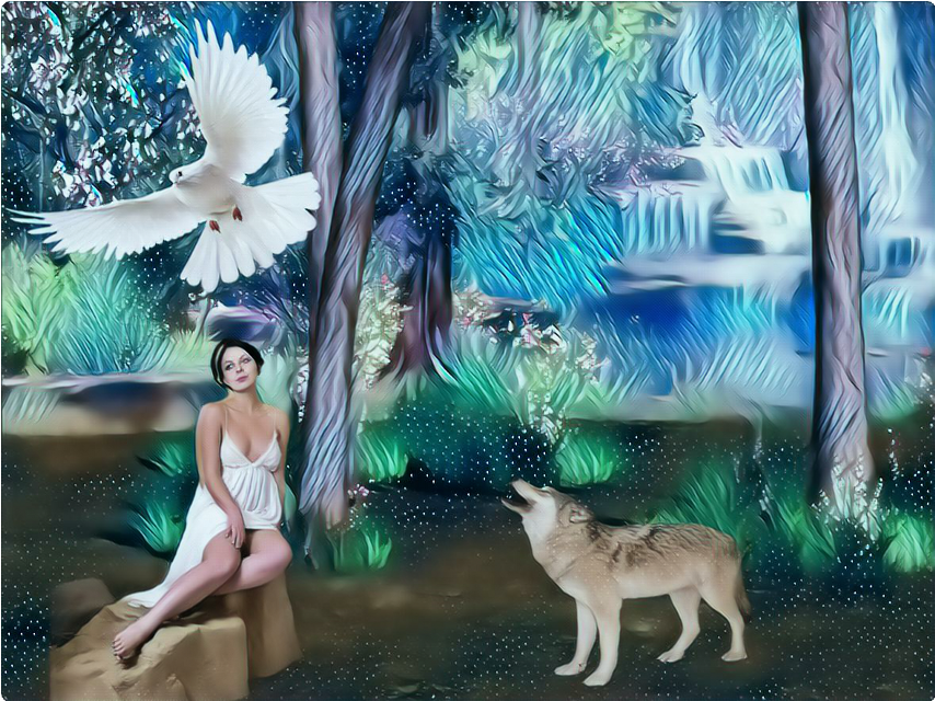 #whiteicemagiceffect  #woman #beautiful #nature #wildlife #wolf #whitedove #abstract #dreamy #artistic #creative #myedit #editbyme #madewithpicsart