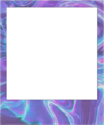 frame polaroid violet purple holographic water...