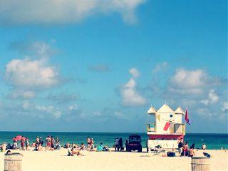 dpcsunbathing beach miami colorful people