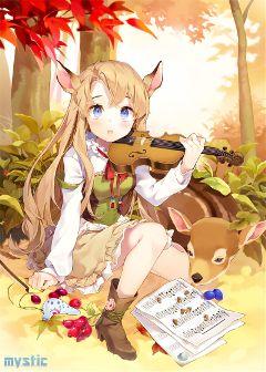 animegirl cutegirl emotions violin melody