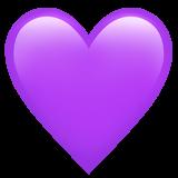 corazon emoji morado lila png