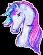 unicorn lightblue pink purple freetoedit
