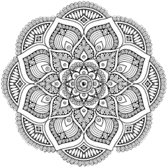 mandala black cute freetoedit