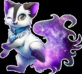 cat galaxy purple freetoedit