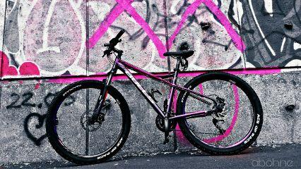 bicycle bike mtb pink graffiti