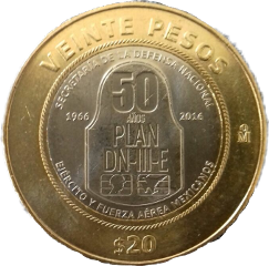 20 veinte veintepesos moneda coin