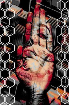 psychedelic popart retro vintage hand