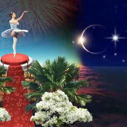 freetoedit girl ballet moon star