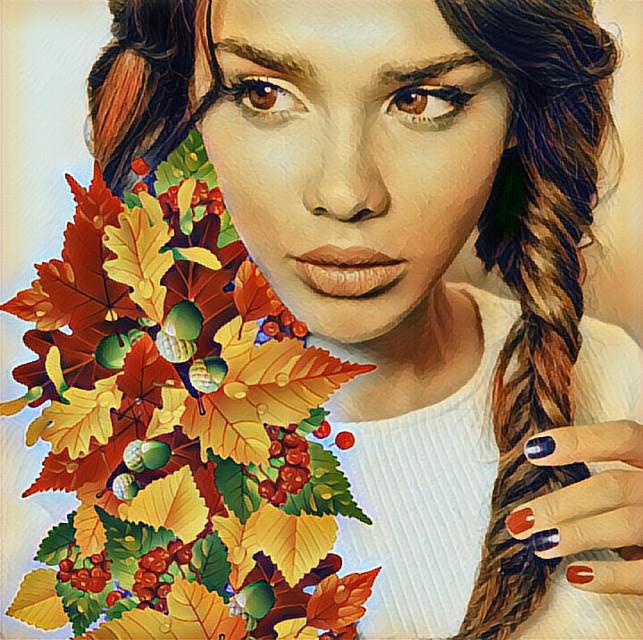 #freetoedit #leafs  #fall #woman #beauty