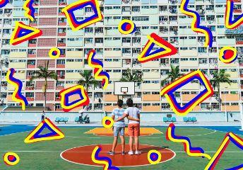 playground kids fun basketball palmtrees freetoedit