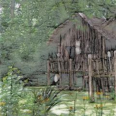 freetoedit shack water trees green