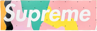 ftestickers supreme pink green yellow
