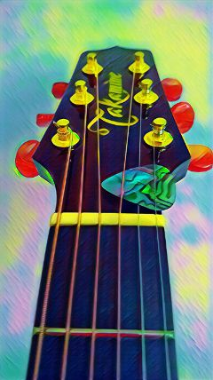 guitar strings photography colorful
