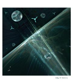 city universe space futuristic imagination