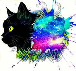 freetoedit cat kitten paint paintsplat