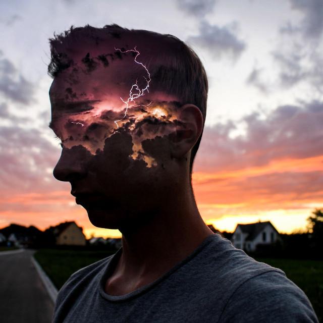 ʙʀᴀɪɴꜱᴛᴏʀᴍɪɴɢ  #storm #sunset #silhouette #edited #surreal #surrealism op: unsplash.com