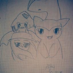 latias jirachi typhlosion anime pokemon