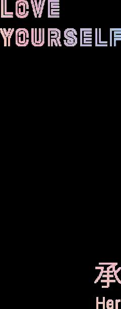 bts loveyourself logo her freetoedit