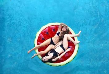 watermelon pool bikinis summer pooldays