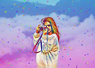 confetti camera retrocamera colors clouds freetoedit