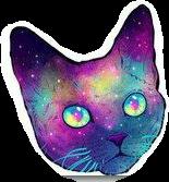 cat galaxy tumbler sticker darkhouseclose_sticker